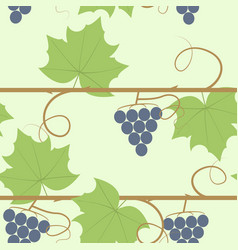 Grape berry leaf pattern vector