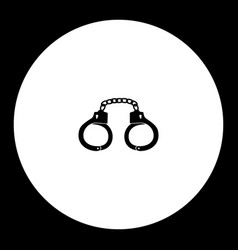 Handcuffs shackles simple silhouette black icon vector
