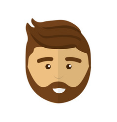 Handsome professional man with hairstyle vector