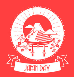Japan day red color vector