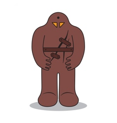 Jewish golem medieval prague legend clay monster vector