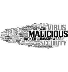 Malicious word cloud concept vector