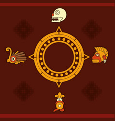 maya calendar design vector image