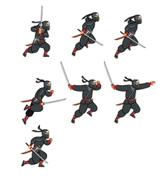 Ninja Jumping Game Sprite vector image vector image