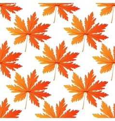 Pretty colorful autumn leaf seamless pattern vector