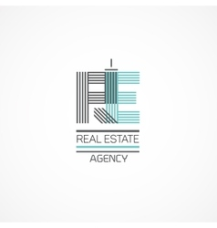Real estate theme vector image vector image