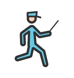 Running cop vector