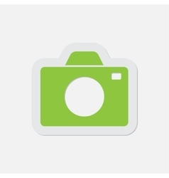 Simple green icon - camera vector