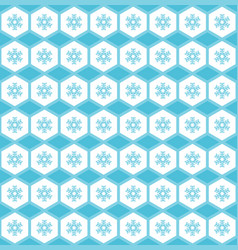simple seamless pattern snowflakes in ornament vector image vector image