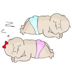 Sleeping babies vector image vector image