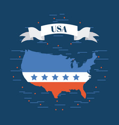 usa country map image vector image