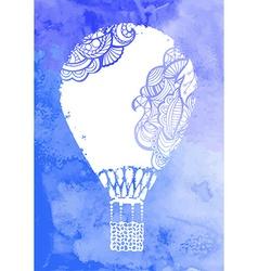 watercolor hot air balloon vector image
