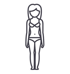 woman body shapefemale sillhouete frontlingerie vector image