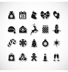 Christmas icons vector image