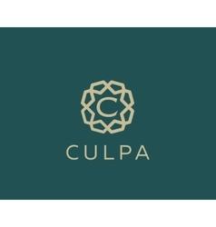 Premium letter c logo icon design luxury vector