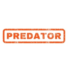 Predator rubber stamp vector