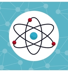 atom molecule structure chemical vector image