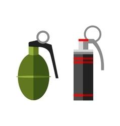 Hand grenade bomb explosion vector image