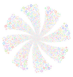 Circle bubble fireworks swirl rotation vector