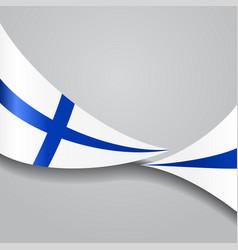 finnish wavy flag vector image