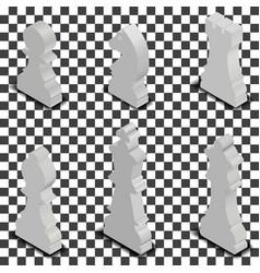 chess figures isometric vector image
