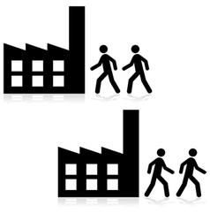 Nine to five job vector image