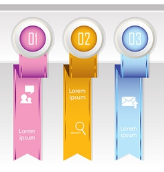 Colorful banner ribbon element for infographic vector