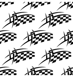 Stylized seamless pattern of a checkered flag vector image