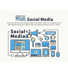 Social Media and Network Marketing vector image