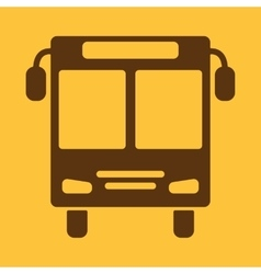 The bus icon public transport stop symbol flat vector