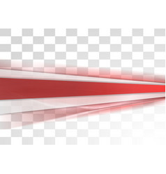 Red tech stripes blurred transparent design vector