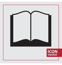 Book simple icon vector