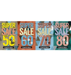 Modern banner super sale up to 80 percent vector