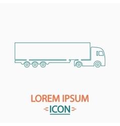 Big Truck computer symbol vector image