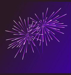 Abstract blue fireworks explosion on transparent vector