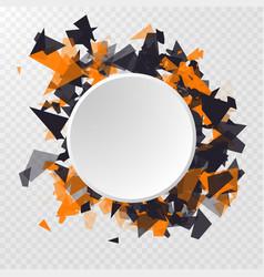 abstract circle banner advertisement panel vector image