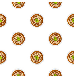 Asian noodles pattern seamless vector