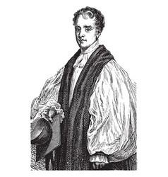 Bishop reginald heber vintage vector