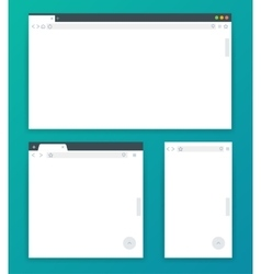 Blank browser windows for different devices of vector