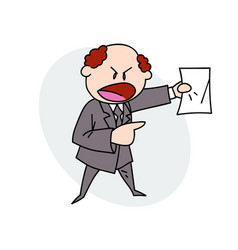 boss shouting orders vector image vector image