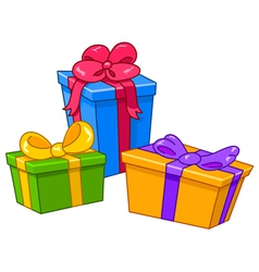 cartoon gifts vector image vector image