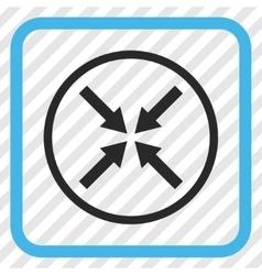 Center arrows icon in a frame vector