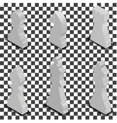 chess figures isometric vector image vector image