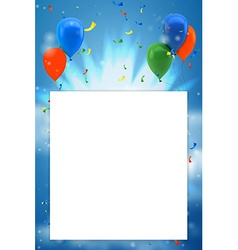 Colorful birthday background with place for text vector image vector image
