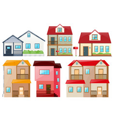 different design of houses vector image vector image