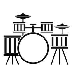 Drum kit icon simple style vector