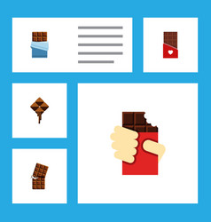 Flat icon bitter set of delicious wrapper vector
