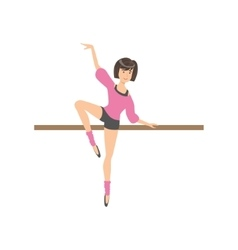 Girl shorts and pink blouse in ballet dance class vector