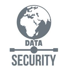 Global data security logo simple style vector