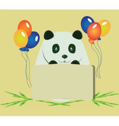 Happy birthday panda bear vector